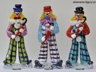 Figurky klaunů ze skla