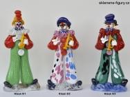 Figurky klaunů s trubkou