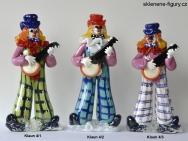 Sklenění klauni s benžem